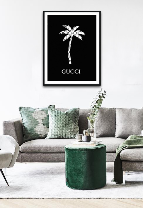 Gucci Palm Tree Schilderij